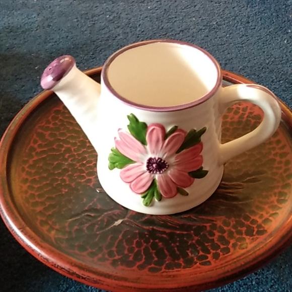 Adorable vintage ceramic floral watering can